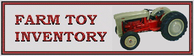 Ford Farm Toy Inventory